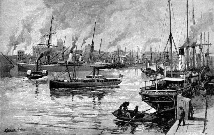 Sketch of the Yarra in the 1880s.