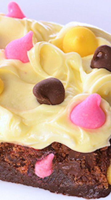 Springtime Brownie Bars