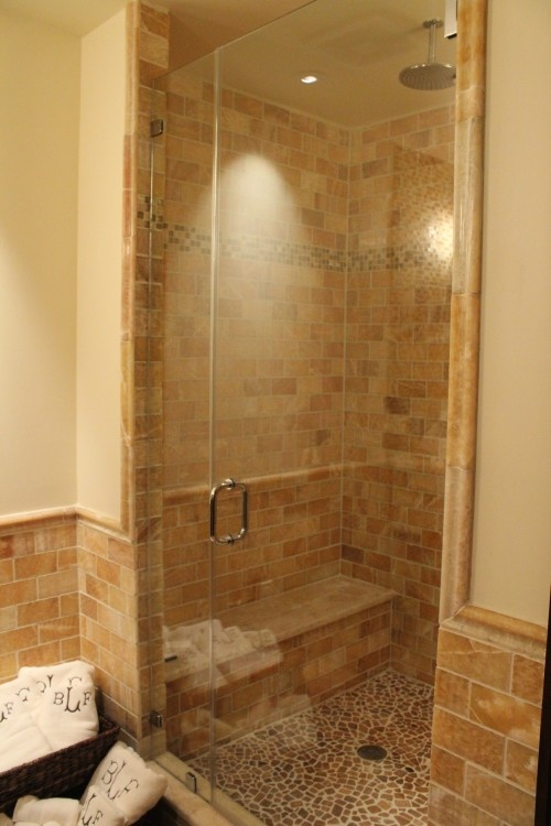 Shower Floor Tiles Which Why And How: Nice Tiled Shower. Like The Floor, The Walls And The Bench