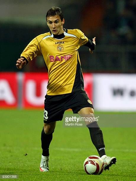 Joao Aurelio of Funchal runs with the ball during the UEFA Europa League Group L match between Werder Bremen and CD Nacional at Weser Stadium on...