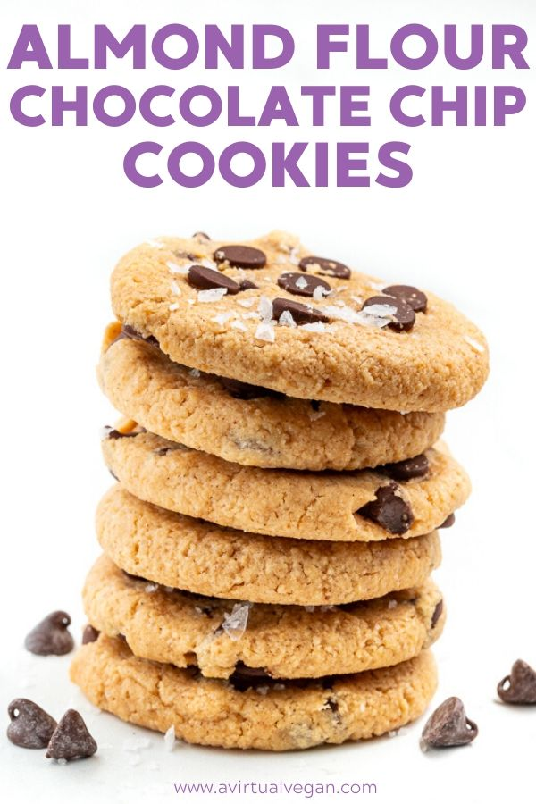 Almond Flour Chocolate Chip Cookies Recipe In 2020 Vegan Cookies Vegan Cookies Recipes Almond Flour Chocolate Chip Cookies