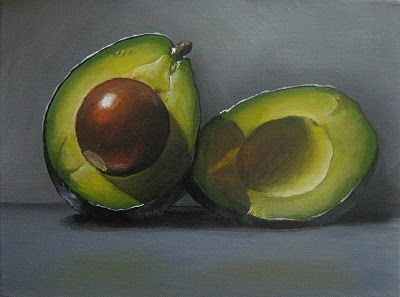 Famous Colored Pencil Art.... Halved Avocao by Kellie Hill