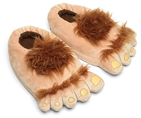 Plush Halfling Slippers - Perfect Boyfriend/Husband gift!  LOL!!