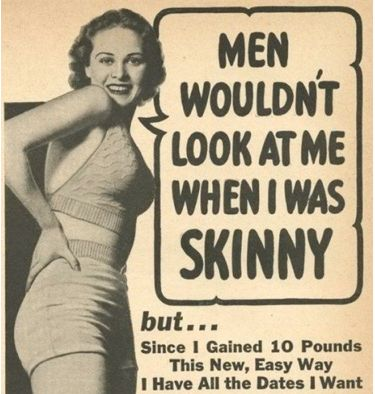 Great old advertisement!  Wish young women could live by this today.