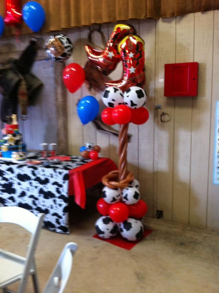 Balloon decorations balloons and cowgirl on pinterest for Balloon decoration los angeles