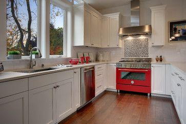 Red Stove Design Ideas, Pictures, Remodel and Decor