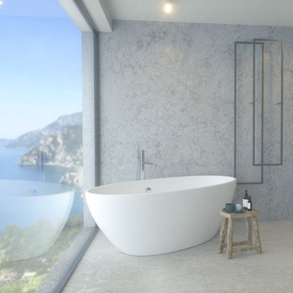 Bathroom With A View 3d Model And Objects For Room 3d Modelling 3d 3dmodel 3ddesign 3dscene Render Architecture Bath Bathro Salle De Bain Bains Salle