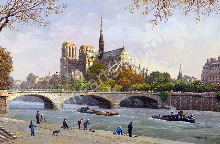 Собор Парижской богоматери, картина раскраска по номерам, картина своими руками, размер 40*50см, цена 750 руб