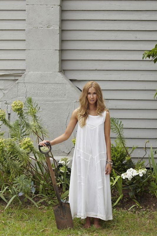 SanCerre spring summer fashion. White maxi dress (available online end July 13). www.sancerre.com.au
