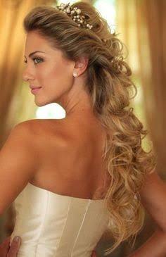 Resultado de imagem para penteados cabelo solto madrinha