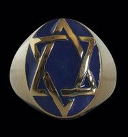 New Listing Started Bronze Seal of Solomon Star of David Ring NZ$28.00