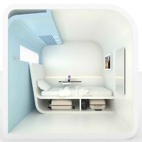 Bubbles by Dream and Fly...miniature hotel rooms proposed for airports and train stations.