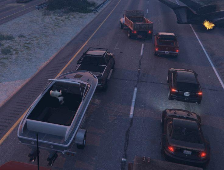 Just a regular traffic jam in GTA V