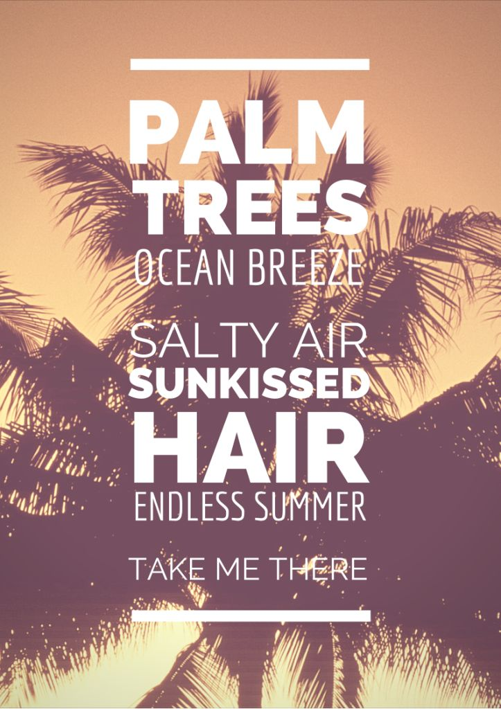 palm trees ocean breeze salty air sunkissed hair endless summer take me there