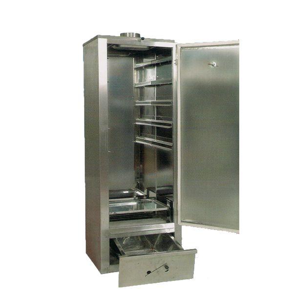 Επαγγελματικός φούρνος καπνίσματος ανοξείδωτης κατασκευής.