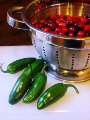 Cranberry Jalapeno Jam.  This will be so good over cream cheese during the holidays.