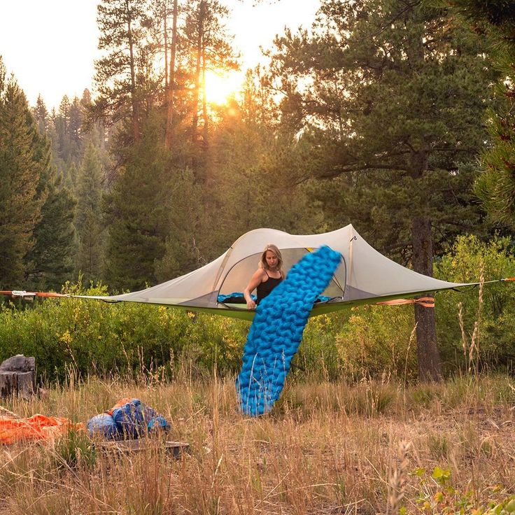 Introducing the SkyPad the tree tent compatible inflatable camping mat.   Designed and innovated in partnership with @klymit, SkyPad fits into all Tentsile Tree Tents and Hammocks, with thermal insulation and non-slip floor for a cosy night's sleep.   $120 on HammockTown.com/ - Link in Bio.  PC:   @nickrlake   #HammockTown #CampingMat #SkyPad #TreeTent