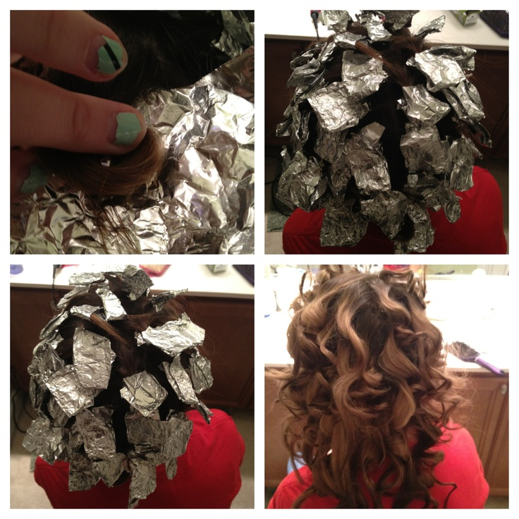 we tried the tin foil curls!!! I think it was a success!!!