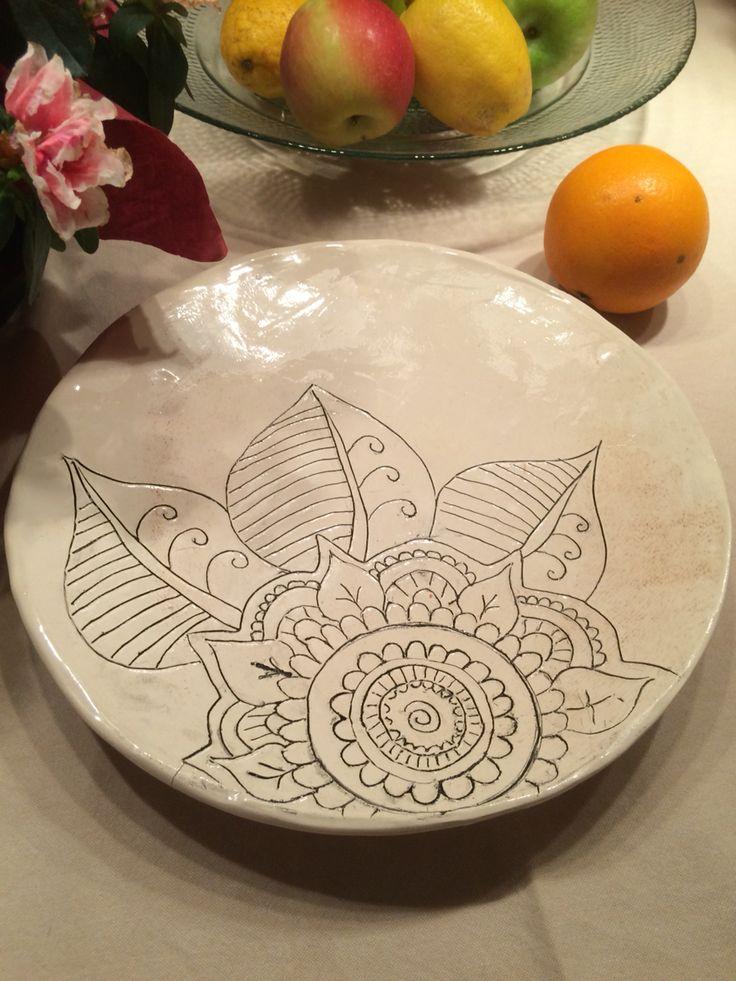 Ceramic 'mandala' plate