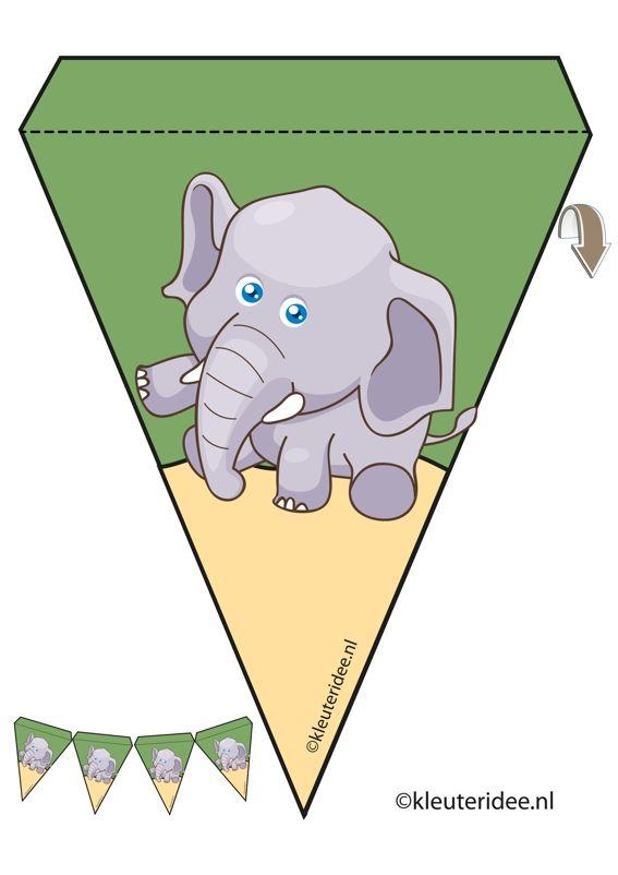 elefánt inga, téma állatkert, Miss Petra óvoda ötlet, elefánt girland Óvoda állatkert téma, ingyenes nyomtatható.