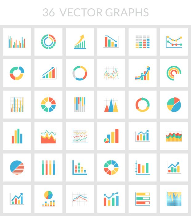 flat color vector chart graph illustrator svg photoshop psd