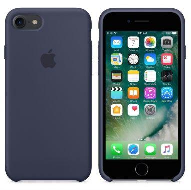 Apple iPhone 7 siliconenhoesje middernachtblauw  SHOP ONLINE: http://www.purelifestyle.be/shop/view/technology/iphone-beschermhoezen/apple-iphone-7-siliconenhoesje-middernachtblauw