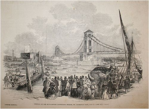 The Opening of the Hungerford Bridge in 1845