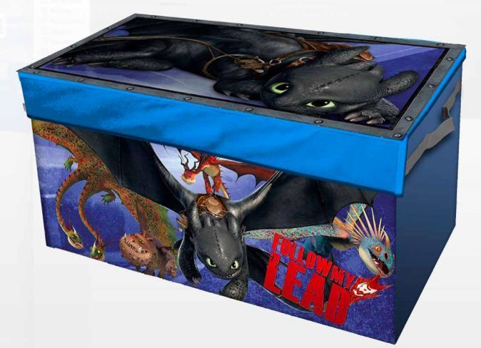 How To Train Your Dragon Toy Box Kids Storage Trunk Bedroom Toys Organizer New #Unbranded