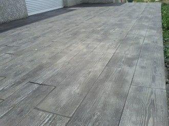 17 meilleures id es propos de beton imprim sur - Terrasse beton empreinte bois ...