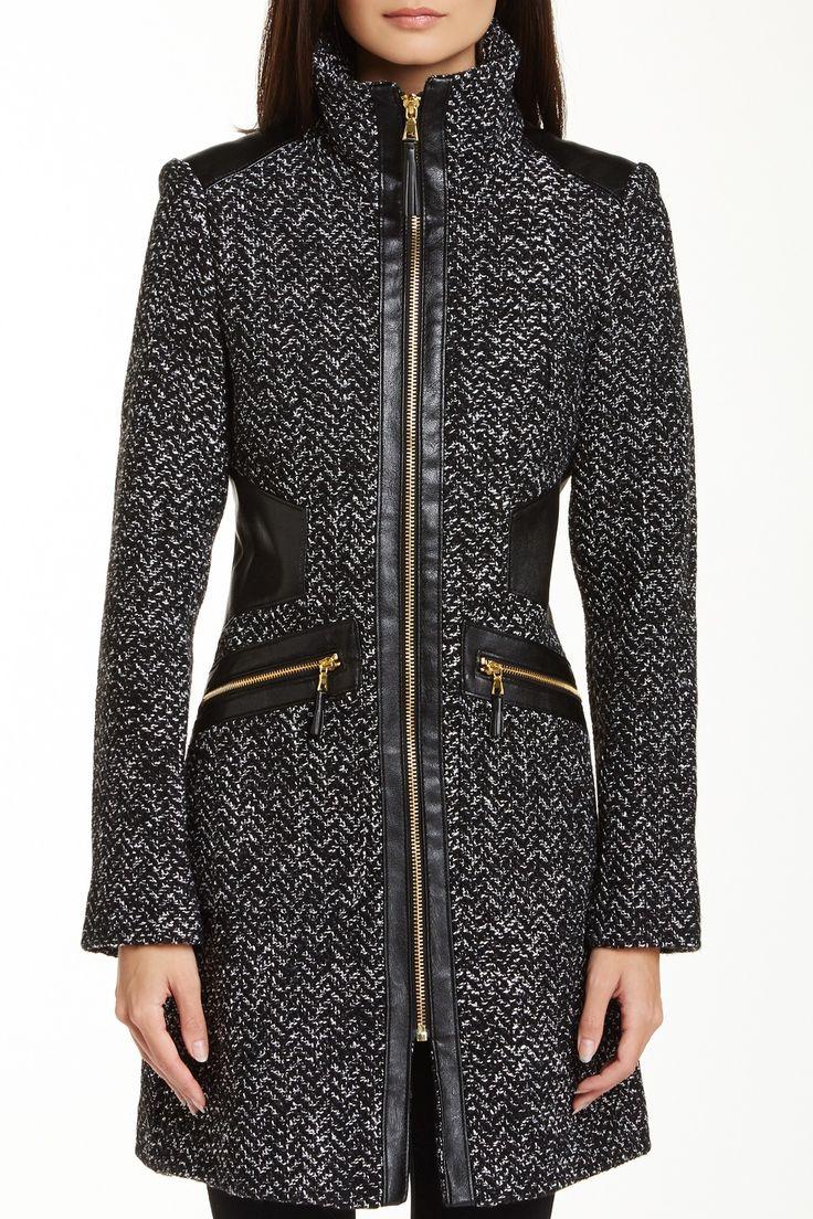Via Spiga Zip Front Chevron Knit Coat by Via Spiga on @nordstrom_rack
