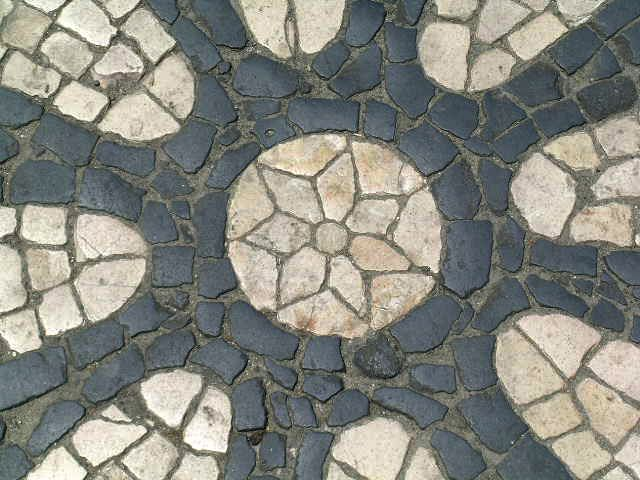 Portuguese pavement in Lisbon, Portugal - photo by Carlos Marques da Sliva, via Wikipedia