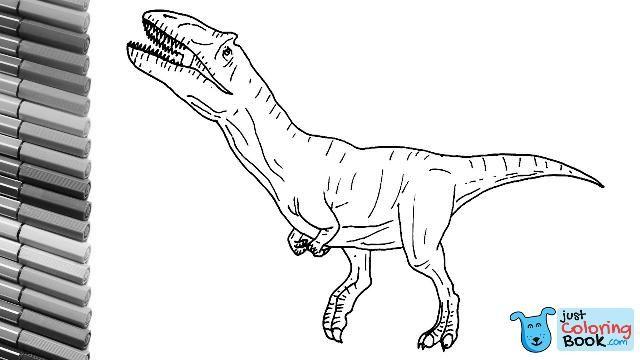 How To Draw The Metriacanthosaurus T Rex Like Dinosaur Cloro