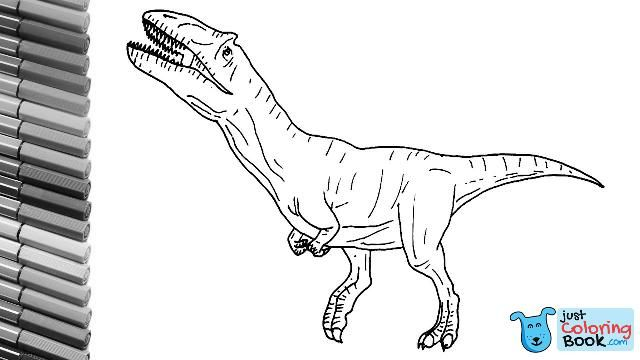 How To Draw The Metriacanthosaurus T Rex Like Dinosaur Cloro