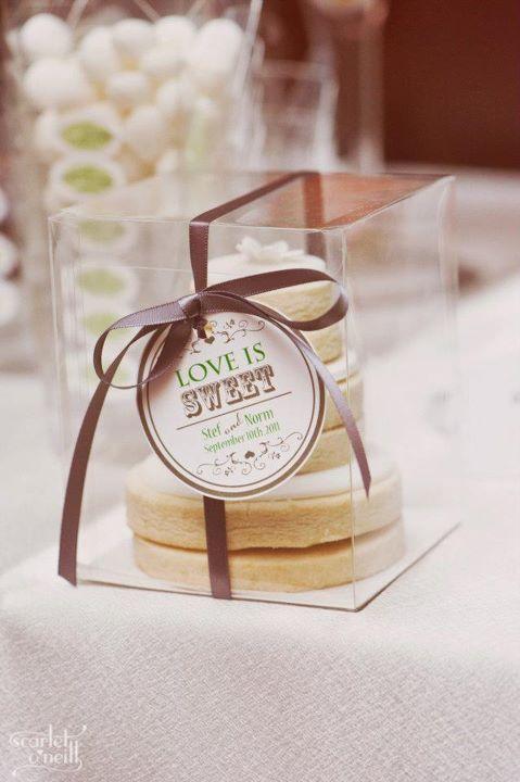 Love is Sweet - Wedding Cookie Cakes inspired by Martha Stewart's version.