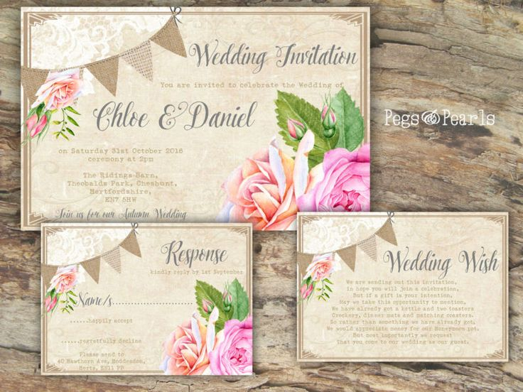 The 19 best Bunting Wedding Invitations images on Pinterest