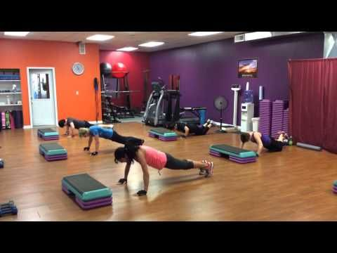 Yvette's Total Fitness Cardio kickboxing/step aerobics class Part 2 - YouTube