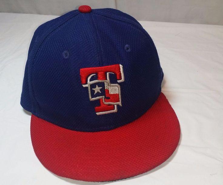 Texas Rangers New Era Fitted Baseball Cap Hat MLB Size 6 5/8 Embroidered 59Fifty #NewEra #BaseballCap