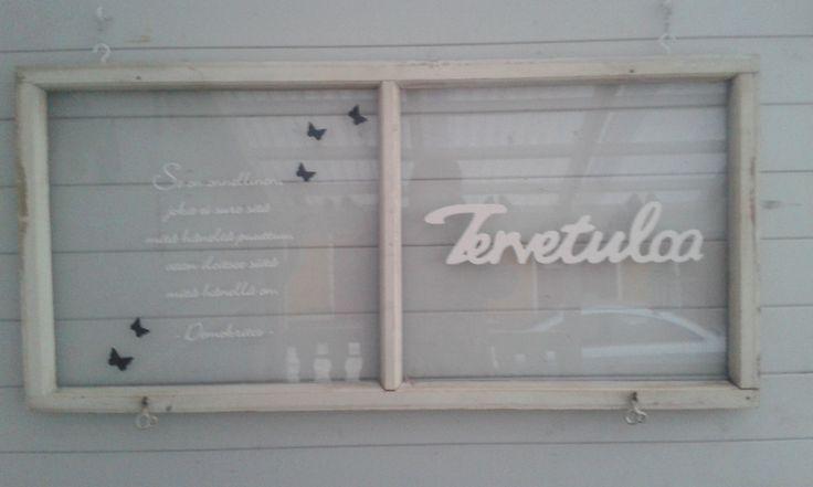 vanha ikkunan poka uusiokäytössä.