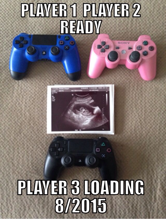 Video game Baby announcement