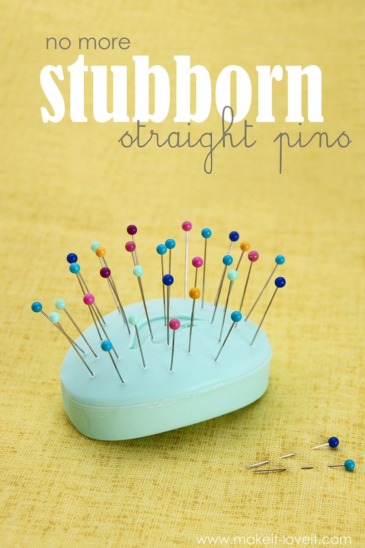 Sewing Tip: No More Stubborn Straight Pins