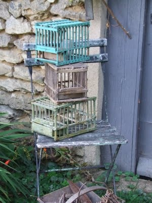 old french bird cages