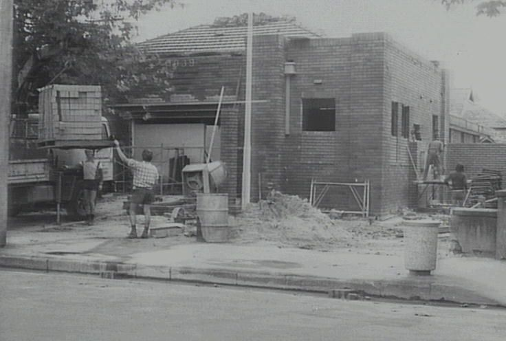 Richmond Library in 1980 undergoing renovations. The building originally housed the Richmond Municipal Council.