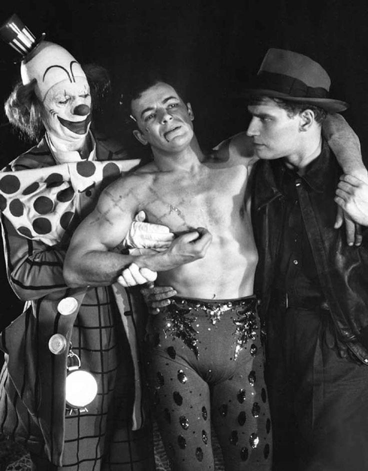 Jimmy Stewart, Cornel Wilde & Charleton Heston in The Greatest Show on Earth (1952)