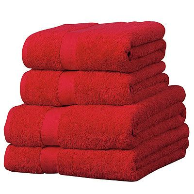 red bath towels - Google Search