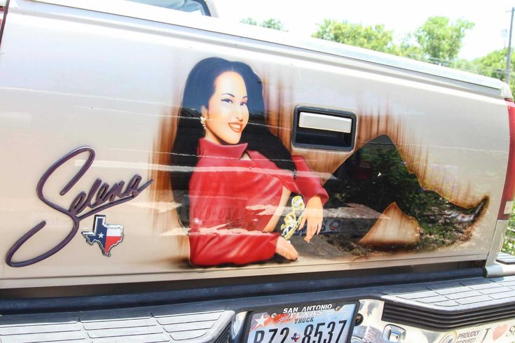 70-year-old San Antonio woman spent $2,000 to turn her Chevy truck into a Selena Quintanilla tribute