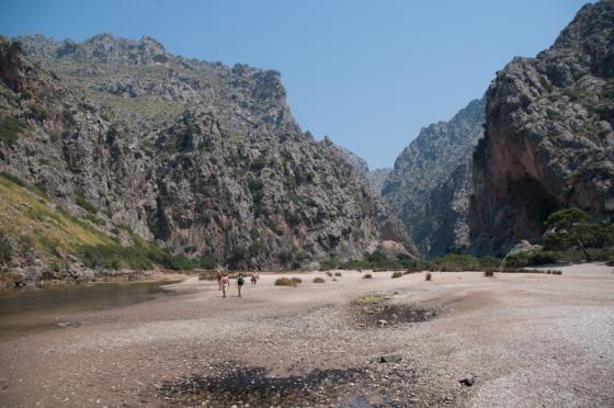 Torrent de Pareis, Sa Calobra beach, Mallorca.