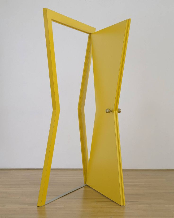 Michelangelo Pistoletto - Door, 1976-77. Plywood, plastic and metal