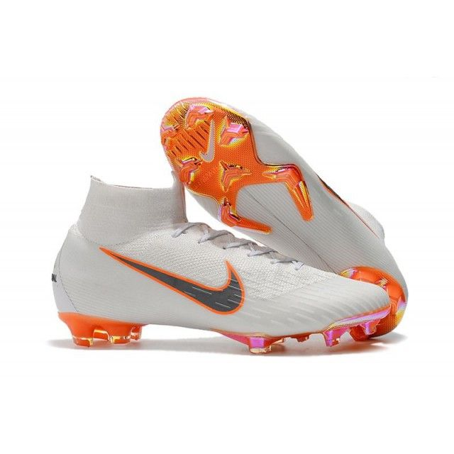 official photos a0732 b06d1 Nike Cleats Soccer Womens - Womens Nike Mercurial Superfly VI Elite FG  White Metallic Cool Grey Total Orange - Womens Soccer Cleats 7.5 - Firm  Ground ...