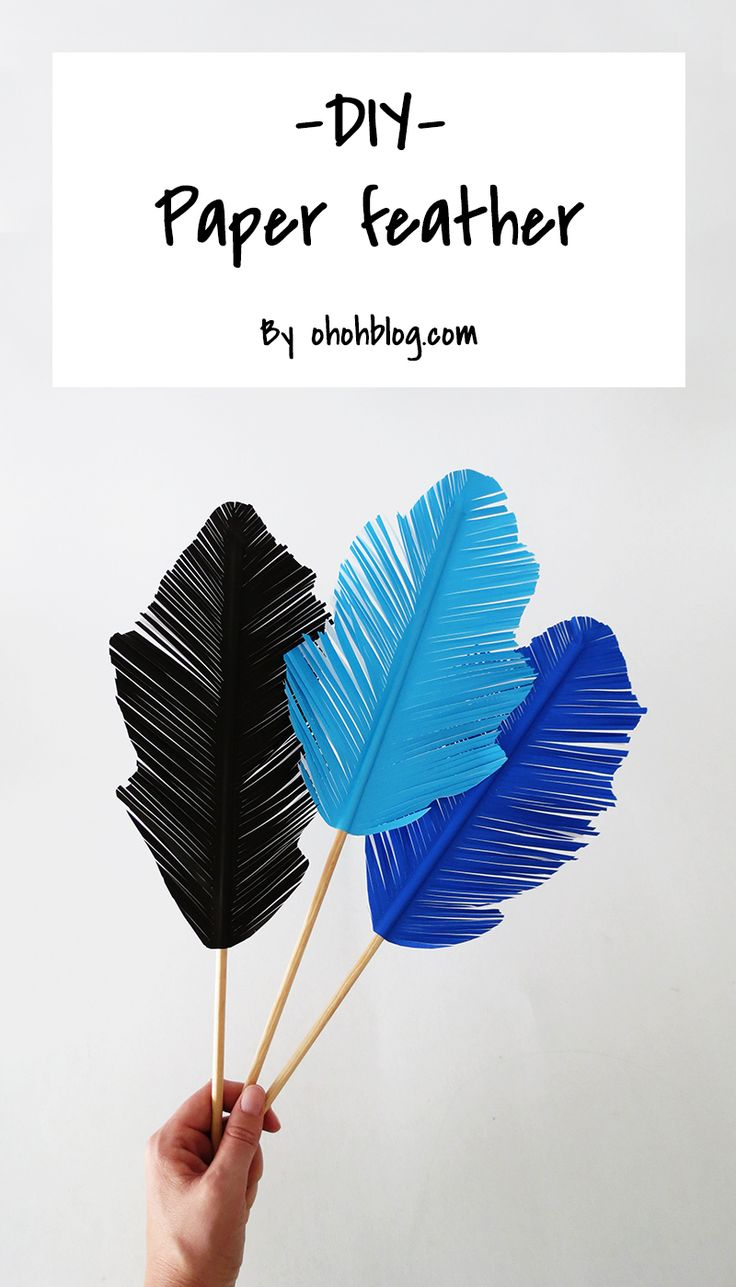 How to make paper feather