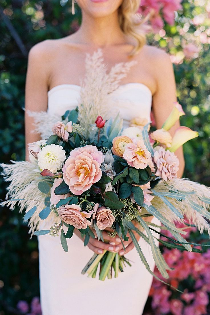 Absolutely stunning oversized bridal flowers, love this bouquet! Film photography by Tec Petaja!